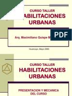Curso Taller Habilitaciones Urbanas Huancayo