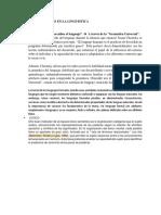 Teoría de Lenguajes en La Linguistica