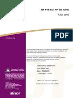 NF en 13043 (Août 2003) - Granulats Pour Mélanges Hydrocarbonés Et Pour Enduits Superficiels Utilisés Dans La Construction Des Chaussées