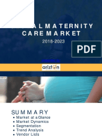 Global Maternity Care Market Analysis by Arizton