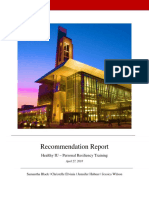 recommendation report for personal resiliency training