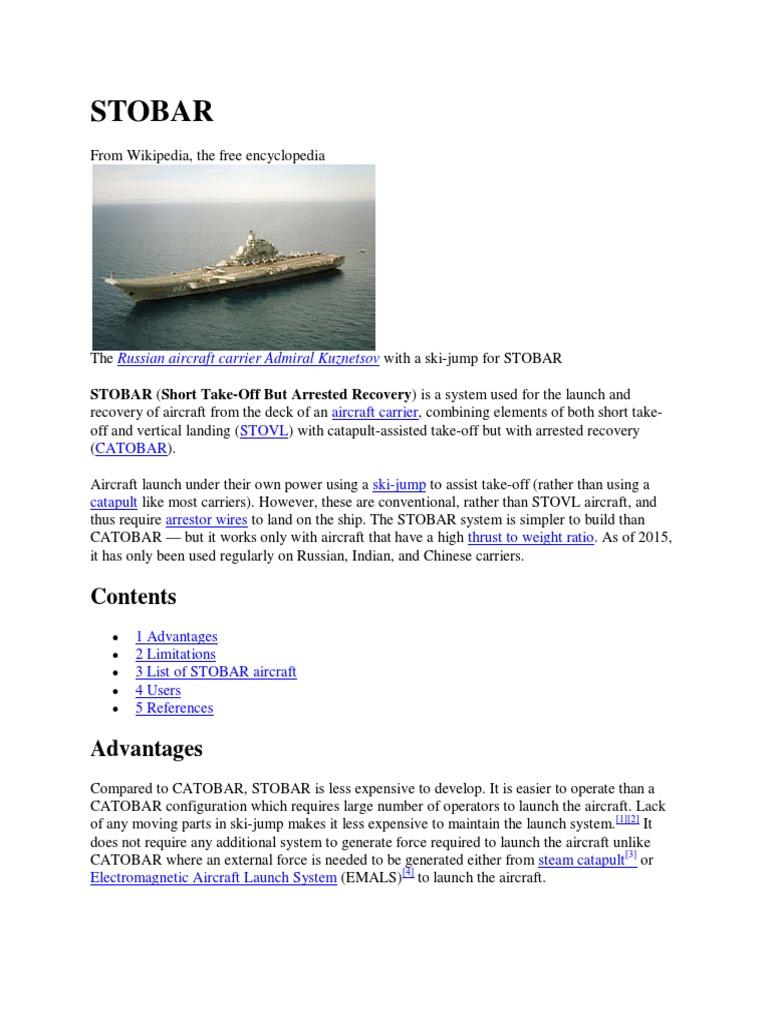 STOBAR.pdf | Aircraft Carrier ...