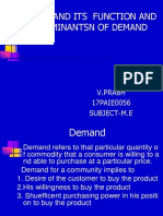 Demand and Its Determinants..M.E