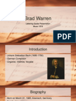 semester listening guide presentation - brad warren