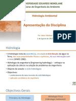 Hidrologia Ambiental - Apresentação Da Disciplina