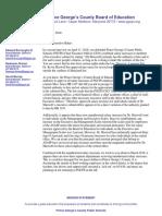 PGCPS Board Letter