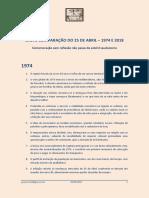 Breve comparação do 25 de Abril – 1974 e 2018