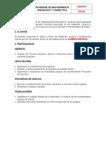 Programa de Mantenimiento Preventivo y Correctivo