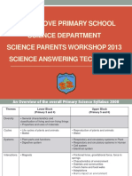 Online Notes Science Workshop for Parents