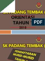 Slide Orientasi Tahun 1 - 2018