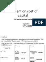 fm 2-1 cost of capital problem