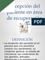 Recepcion Del Paciente Postoperatiro