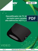 Decodificador TV Comedor 208-900-Instr