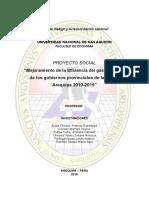 Eficiencia Del Gasto Publico de Los Gobiernos Provinciales de Arequipa 2018