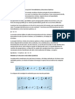 Primera Ley de La Termodinámica y Reacciones Químicas
