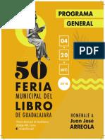 Programa Feria Municipal del Libro 2018