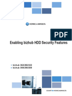 Enabling Bizhub 350 HDD Security Features