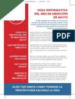 MMM ParticipantFactsheet PrintersSPANISH