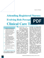 Attending Registered Nurses Evolving Role Perceptions in Clinical Care Teams
