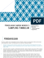 Minggu 3 Sampling Timbulan