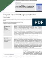 Guía Para La Evaluación de Tel, Consideraciones