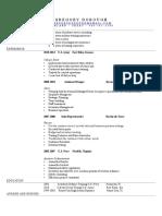 gregory dorough resume