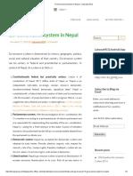 Governance System in Nepal – Loksewa MCQ
