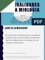 Generalidades de La Miologia