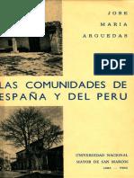 Arguedas-comunidades de Espana y Del Peru, 1968