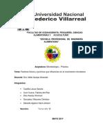 Microbiologia Factores Fisicos y Quimicos