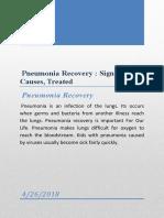 Pneumonia Recovery