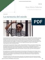 La Memoria Del Miedo _ Rosa María Palacios