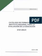 16 Catalogos Formatos INEE