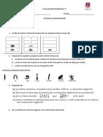 Evaluación Matemática 7 Sistemas de Numeración