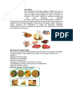 Tipos de Alimentos.