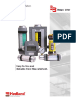 Hedland Variable Area Flow Meters and Flow Switches Brochure Vam-br-00714-En
