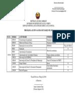 Program de 8 de Março