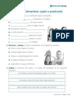 Com3p u9 Ficha Gramatica La Oracion Bimestre Sujeto y Predicado