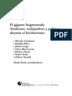 El gigante fragmentado. Sindicatos, trabajadores y política durante el kirchnerismo en Argentina