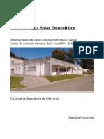 Damián Contreras - Dimensionamiento Sistema Fotovoltáico
