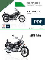 SUZUKI - GZ150A despiece