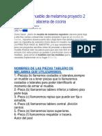 04 Plano de Mueble de Melamina Proyecto 2 Alacena de Cocina