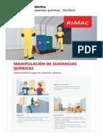Afiche Didactico Manipulacion de Sustancias Quimicas
