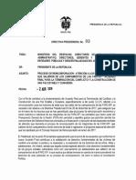DIRECTIVA PRESIDENCIAL N° 03 DEL 02 DE ABRIL DE 2018
