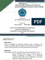 Jurnal Dr. Adi R, Sp.og - MgSO4, Preterm