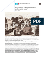 """""""La Batalla Cultural Demanda Una Pedagogía de La Transformación Social"""""""