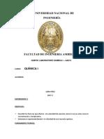 Informe 5 de Quimica