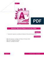 2 Generar Base de Datos en Access 2010