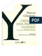 CLASTRES, Pierre. Crônica Dos Índios Guayaki