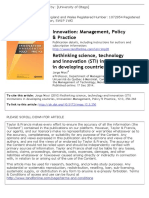 [2010] Rethinking Science, Technology and Innovation (STI) Institutions in Developing Countries